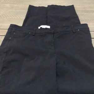 Black casual pants size 14 28 1/2 length